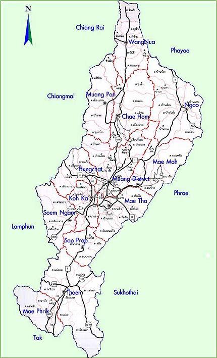 Lampang Map