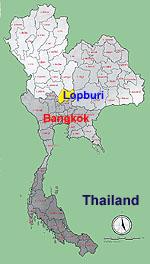 Lopburi Thailand Map.Lopburi