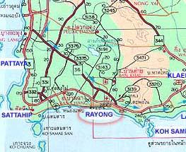 Rayong Map