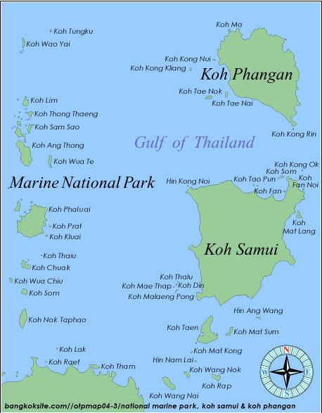 Koh Samui to Koh Tao Map Map of Koh Samui Koh Pha Ngan