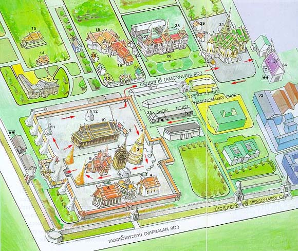 Map of the Temple of the Emerald Buddha 1